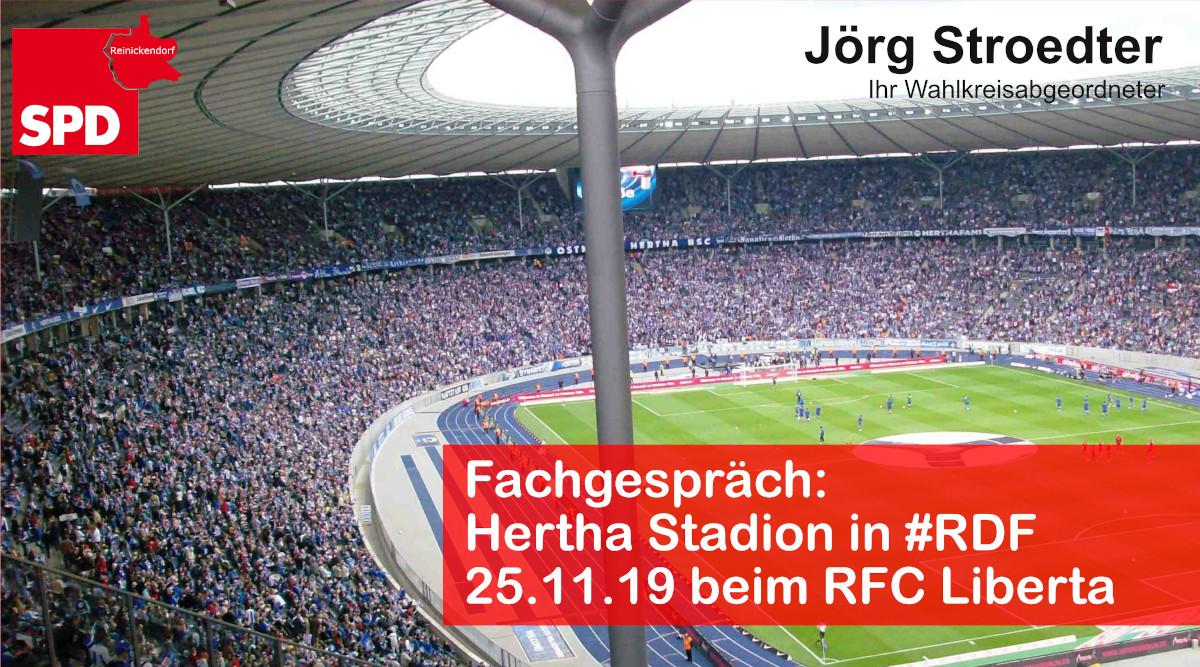 Hertha-Stadion in Reinickendorf
